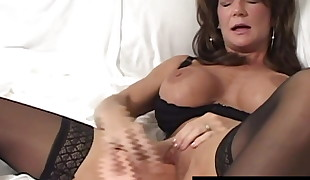 Huge-chested Mummy Deauxma Splatters Her Labia Testicle tonic Masturbating!