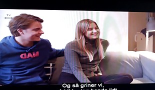 Norwegian young Nymph and Man have SEX.