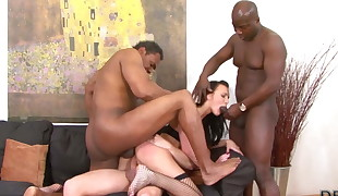 Teen gangbang plumbed by 4 guys hardcore and  big cocks