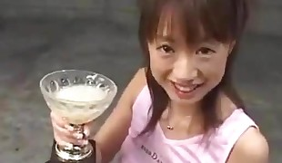 Teen Drinks Trophy Cup Full Of Cum - PolishCollector