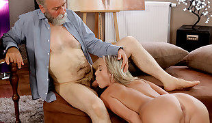 OLD4K. Old and lustful schoolteacher