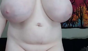 Really Hefty white Tits Cute chick Udders