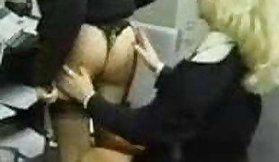 Office Stockings Girl/girl Sole Rubdown