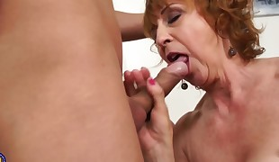 Sexy Czech grandma fucks youthful lucky